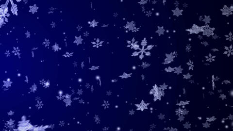 Flying Snow Crystals Animation