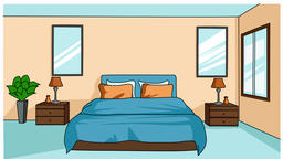 bedroom sketch illustration hand drawn animation transparent Footage