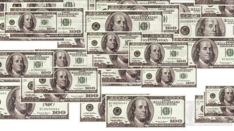 4k Float 100 dollars money wealth background Live Action