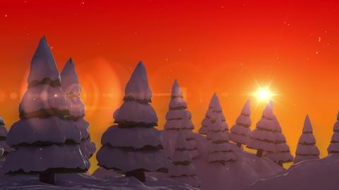 SHA Snow land Sunset Animation