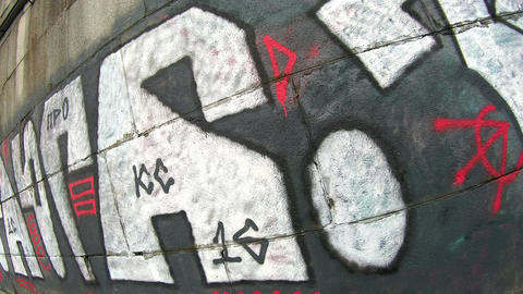 Graffiti video on action camera vol2 4K Footage