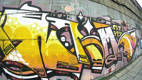 Graffiti outside Original 4K vol 1 Live Action