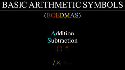 Mathematical Operators Order of Precedence (BIDMAS) Animation