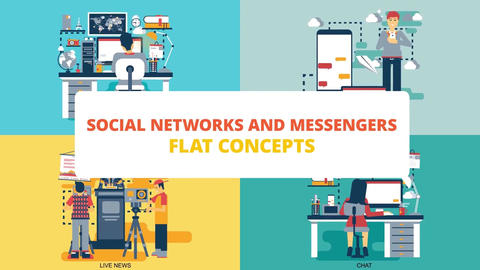 Social networks and messengers After Effects Template