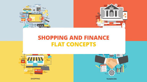 Shopping and finance After Effects Template