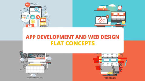 App development and web design After Effects Template