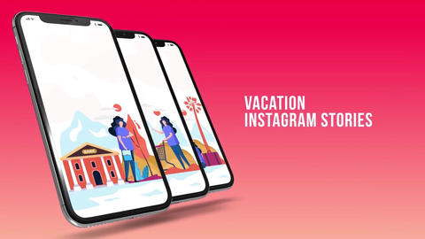 Vacation - Instagram stories Plantilla de After Effects