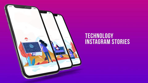 Technology - Instagram stories After Effects Template