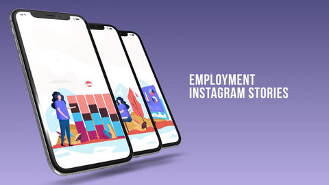 Employment - Instagram stories After Effects Template