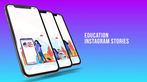 Education - Instagram stories After Effects Template