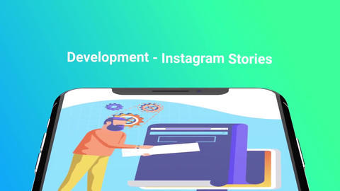 Web development Flat - Instagram stories After Effects Template