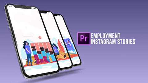 Employment - Instagram stories Plantillas de Motion Graphics