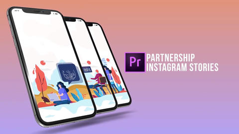 Partnership - Instagram stories Plantillas de Motion Graphics