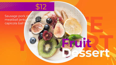 Colorful Food Promo After Effects Template
