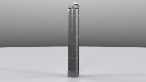 Distillation tower02 Modelo 3D