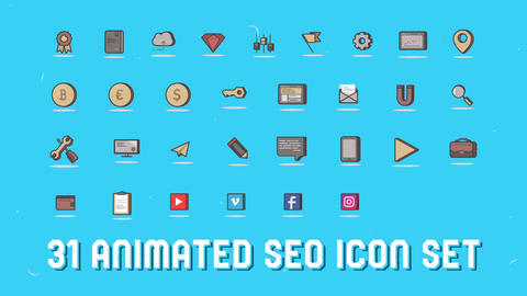 Seo 3d icons After Effects Template