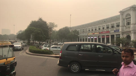 New Delhi, India, November 11, 2019, standard street of the Indian capital with Live Action