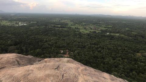 Sigiriya, Sri Lanka, evening view from the mountain Live Action