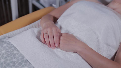 Beautiful woman hands in a beauty parlor Live Action