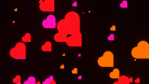 Bokeh made of colored hearts CG動画