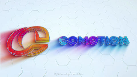 Colorful Glass Logo After Effects Template