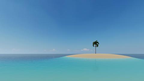 Island ocean palms Summer nature view. Tropical landscape. Sea landscape Live Action