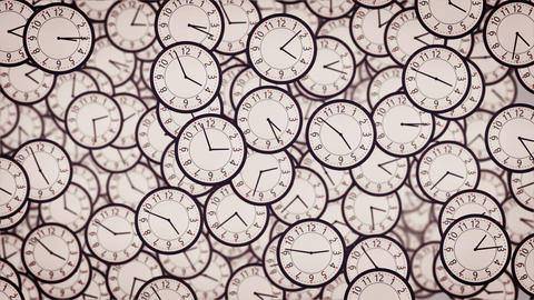 3D Clock face animation Animation