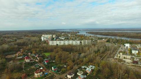 Aerial video of Samara city Live Action