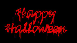 Blood Happy Halloween, Alpha PNG Animation