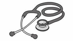 cardiology stethoscope medical sketch illustration hand drawn animation Footage