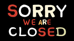 sorry we are closed animation with transparent background Footage