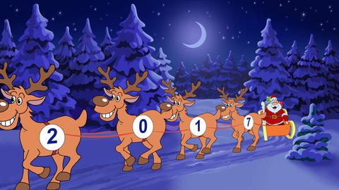 Christmas and New Year animated card After Effects Template