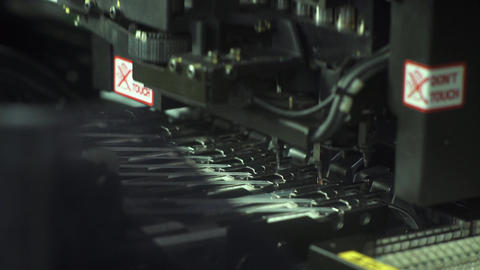 Robotic Production Of Printed Circut Board Footage