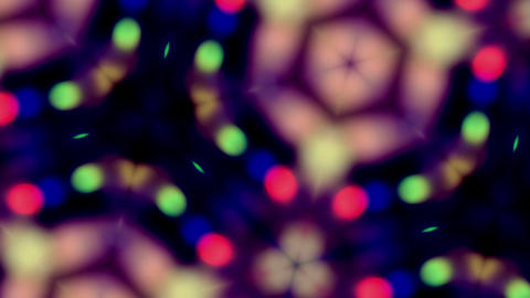 Flickering Kaleidoscopic Bokeh Lighs Animation