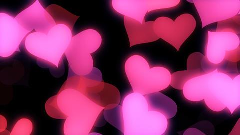 Glowing Hearts Vj Loop Stock Video Footage
