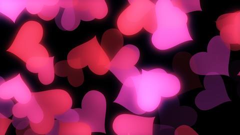 Glowing Hearts Vj Loop Animation