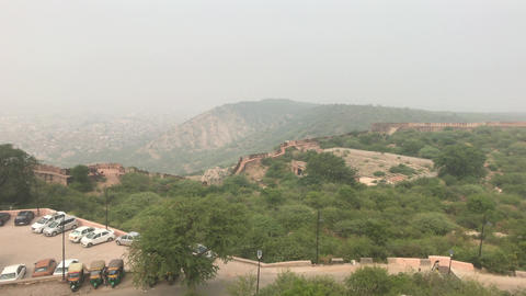 Jaipur, India - View from above the old historic fortress part 5 Live Action