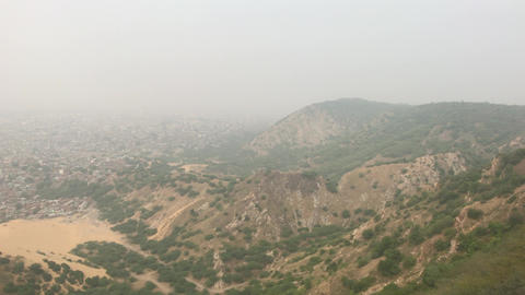 Jaipur, India - View from above the old historic fortress part 3 Live Action