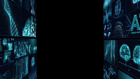 Digital Network Technology AI artificial intelligence data concepts Background B Tate D1 Mix blue Animation