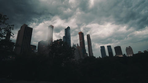 Thunderstorm Time Lapse over Central Park, Manhattan, New York City with new Live Action