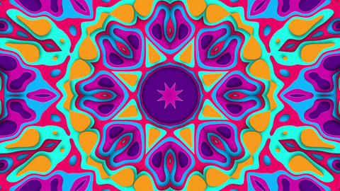 Happy Colorful Looping Background With Kaleidoscopic Effect Animation