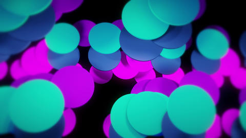Trendy Colored Modern Circle Background Looping Seamlessly With Depth Of Field Animation