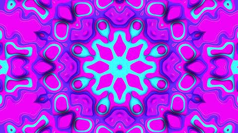 Modern Kaleidoscope VJ Loop With Beautiful Trendy Colors Animation