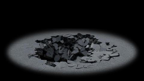 Ground Collapse Animation