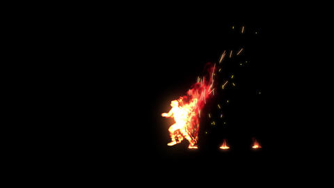 Burning Man Animation