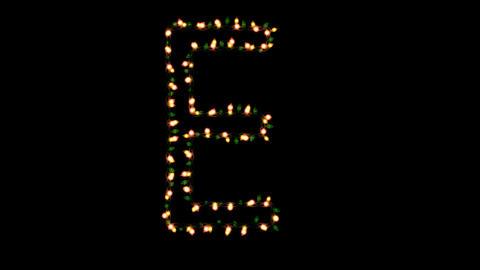 Blinking christmas lights letters E Animation