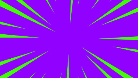 Purple and green radial anime line background Animation
