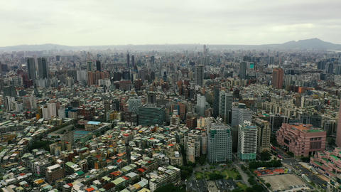 Buildings in Taipei city, Taiwan Live Action