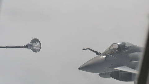 Eurofighter Typhoon Aircraft Refueling Live Action