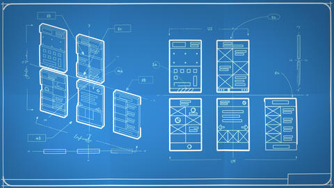 App Development User Interface User Experience Wireframes Animated Blueprint Animation